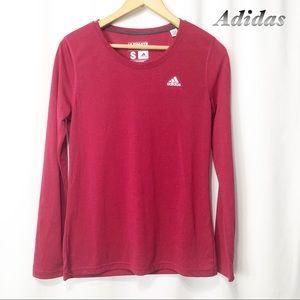 Adidas- Dark Pink Ultimate tee Long sleeve SM